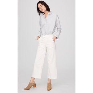 NWOT Everlane Wide Leg Crop Pant in Ivory